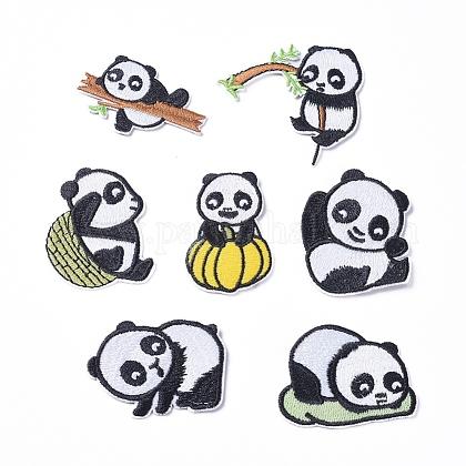 Cute Panda Computerized Embroidery Cloth Iron on/Sew on PatchesDIY-X0293-71-1