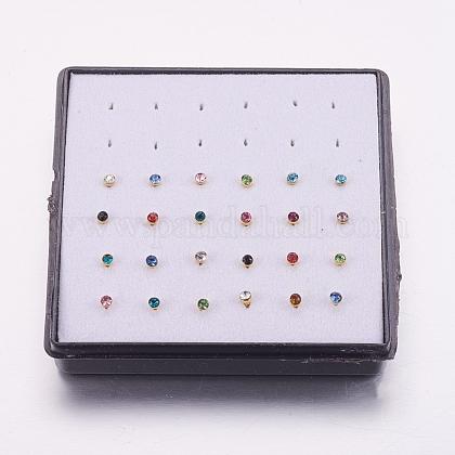 316l acero inoxidable joyería de piercing en la narizAJEW-P063-02-2mm-1