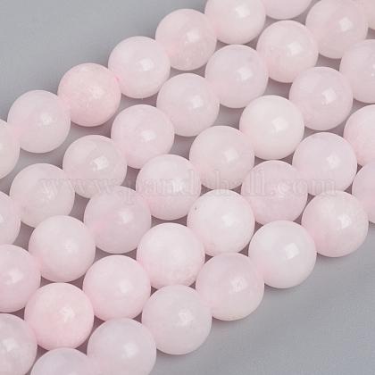 Hebras de cuentas de calcita de mangano rosa naturalG-L505-09-8mm-1