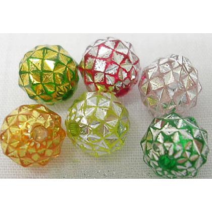 Colorful Acrylic BeadsX-PB9438-1