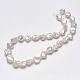 Hebras de perlas keshi de perlas barrocas naturalesPEAR-K004-34-4