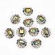 Cabochons Diamante de imitación de la aleaciónMRMJ-T012-15B-1