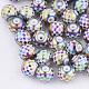 Abalorios de vidrio electroplateEGLA-S178-06E-1