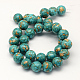 Dyed Synthetic Turquoise Round Bead StrandsTURQ-Q100-01C-01-2