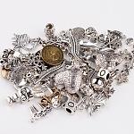 混合チベットスタイルの合金パーツ, ミックスカラー, 7~45x8~44x1~10.5mm, 穴:1~4.5mm