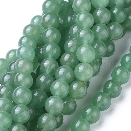 Natural Green Aventurine Beads Strands GSR024-1