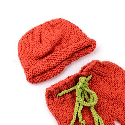 かぎ針編みのベビービーニーコスチュームAJEW-R030-53-1