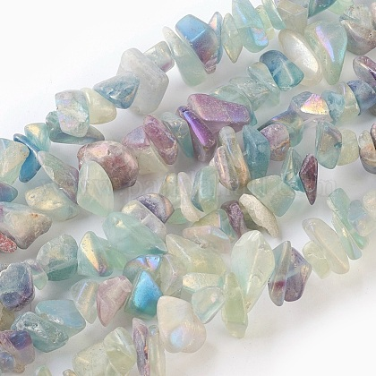 Natural Electroplated Fluorite Beads StrandsG-G767-08A-1