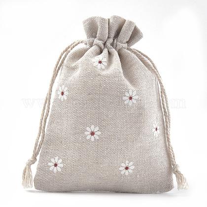 ポリコットン(ポリエステルコットン)パッキングポーチ巾着袋ABAG-S004-04B-10x14-1