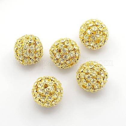 Abalorios de Diamante de imitación de latónRSB081-NFG-1