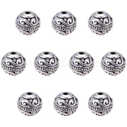Pandahall elite 60 шт. 8 мм круглые бусины-распоркиTIBE-PH0004-93-1