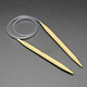 Rubber Wire Bamboo Circular Knitting Needles TOOL-R056-4.0mm-01-1