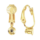 Brass Clip-on Earring Converters FindingsX-KK-Q115-G-2