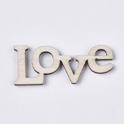 バレンタインデーのテーマレーザーカットの木の形WOOD-T011-41-1