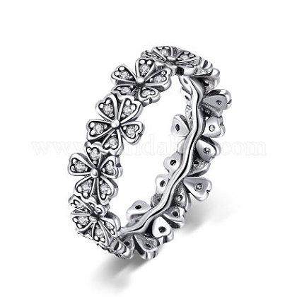 Thai 925 plata esterlina anillos de dedoRJEW-FF0008-011AS-17mm-1