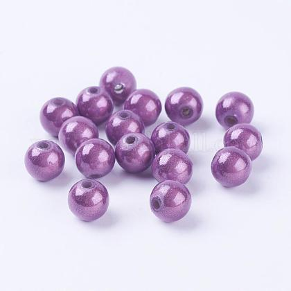 Spray Painted Acrylic Beads PB9284-5-1