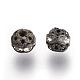 Abalorios de Diamante de imitación de latónRB-A011-6mm-01AB-NF-2