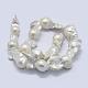 Natural Baroque Pearl Keshi Pearl Beads StrandsPEAR-K004-15-2