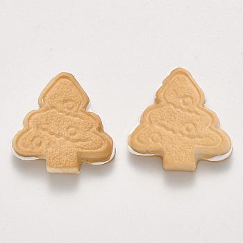 Cabuchones de resina, Galletas de comida de imitación, árbol de Navidad, trigo, 23x23x6mm