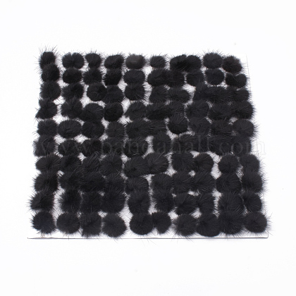 Faux Mink Fur Ball Decoration X-FIND-S267-3cm-16-1
