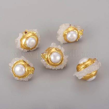 Shell Pearl Beads BSHE-L003-04G-1