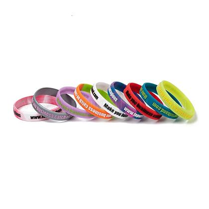 Free Sample Debossed Silicone Wristbands BJEW-K165-02B-1