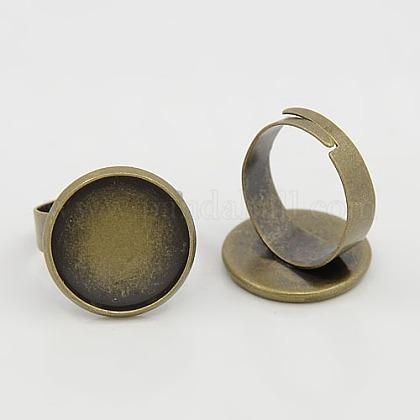 Adjustable Brass Pad Ring FindingsX-KK-Q295-1