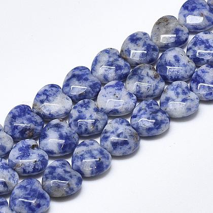 Natural Blue Spot Jasper Beads StrandsG-S357-E01-06-1