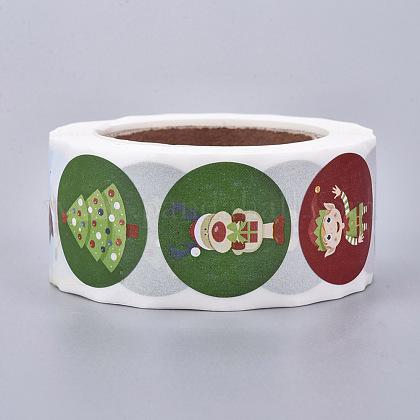 Rollo de navidad pegatinasDIY-J002-B03-1