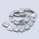 Hebras de perlas keshi de perlas barrocas naturalesPEAR-K004-37-2