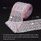 16 rangée en plastique diamant maille rouleau rouleau strass décoration de mariage de rubanOCOR-WH0031-B01-5