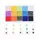 Cuentas de arcilla polimérica artesanal ambiental de 15 colorCLAY-X0011-02-1