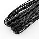 Cordones trenzados de cuero de imitaciónLC-S002-7mm