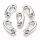 304 Stainless Steel Push Gate Snap Keychain Clasp Findings STAS-F175-13P-41mm-2