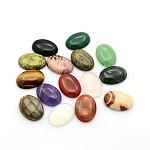 天然石カボション, オーバル, 混合石, 25x18x5~7mm