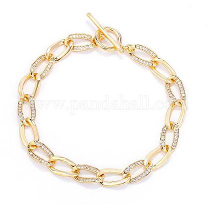 Shegrace® pulseras de cadena de latónJB005A-X-1