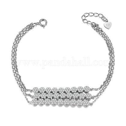 SHEGRACE® 925 Sterling Silver Multi-strand BraceletJB461A-1