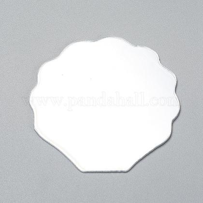 Shell Shape MirrorX-DIY-WH0170-50-1