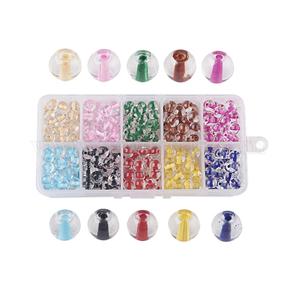 10 couleurs vaporisées perles de verre peintesDGLA-JP0001-20-8mm-1