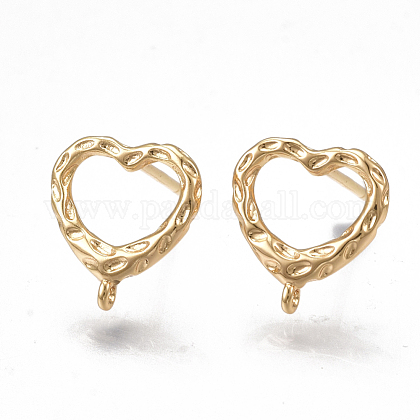 Brass Stud Earring Findings KK-T038-473G-1