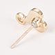 Alloy Enamel Stud Earring FindingsPALLOY-S106-41B-NF-2