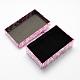Boîtes de jeux de bijoux rectangle de cartonCBOX-S012-05-3