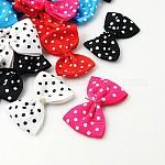 Лента бантом и волосы луки костюм аксессуары, разноцветные, 35~40x24~25 мм