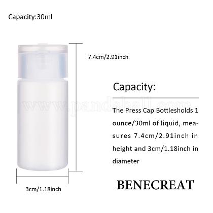 30ml peプラスチック製の空の詰め替え可能なフリップキャップボトルMRMJ-WH0037-13B-1
