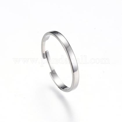 Ajustable 304 bases del anillo de dedo del acero inoxidableX-MAK-R012-10-1