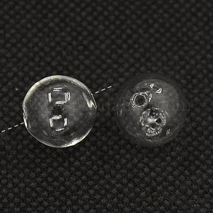 Handmade Blown Glass Globe BeadsBLOW-TA0001-01B-1