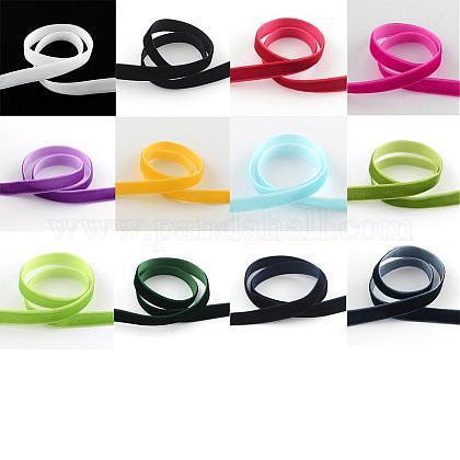 12 colors Single Face Velvet RibbonOCOR-JP0004-9.5mm-1