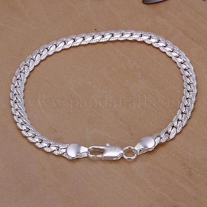 男性のためのトレンディなシルバーカラーメッキ真鍮パーティージュエリーセットSJEW-BB11425-1