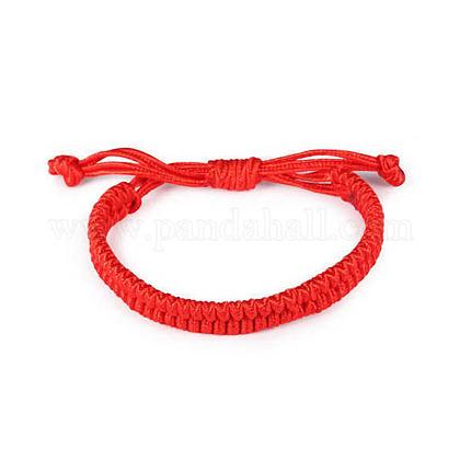 Pulseras trenzadas de cordón encerado ajustableBJEW-E304-15-1