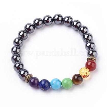 Gemstone Stretch BraceletsBJEW-P179-04-1